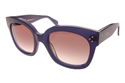 CELINE CL41805/S M23 IN BLUE GLOSS ACETATE SQUARE OVERSIZED HIGH FASHION SHADES
