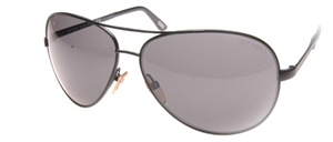 ecab394621 tom ford FT0035 BR MATTE BLACK metal aviator style sunglasses ...