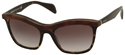 PRADA 0PR19PS MA4/0A7 TORTOISE EYELINE WAYFARER FASHION SUNGLASSES