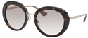 PRADA CINEMA 0PR16QS 2AU/1L0 LARGE ROUND HAVANA FASHION SUNGLASSES