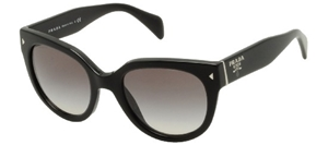 Prada swing 0PR17OS 1AB/0A7 black retro classic fashion catseye Sunglasses.