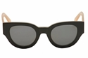 CELINE BI COLOR CL41064/S 6TV BLACK PINK  ROUND RETRO SHADES