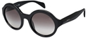 PRADA 0PR06RS 1AB/0A7 LARGE ROUND BLACK IRIS APFEL SUNGLASSES