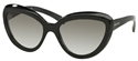Prada 0PR08RS 1AB/0A7 BLACK FASHION CATSEYE SUNGLASSES