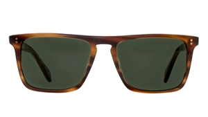 Oliver Peoples Bernardo OV5189/S 132652 MATTE SANDALWOOD VFX GREEN FLATTOP RETRO SUNGLASSES