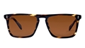 Oliver Peoples Bernardo Cocobolo with java polarized OV5189/S 1003/N9 flattop sunglasses