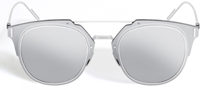 Dior Composit 1.0 100T Silver Flat Pantos shape Streetstyle futuristic sunglasses