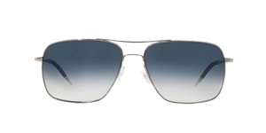 Oliver Peoples Clifton OV1150/S 50363F Silver Chrome with Saphire VFX lenses photochromic aviator sunglasses