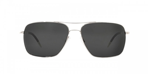 Oliver Peoples Clifton OV1150/S 5036P2 Clifton Silver with Midnight Express VFX Polar Glass aviator sunglasses