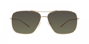 Picture of Oliver Peoples Berenson OV1165ST 5035T4 Gold with Green Gradient Polarized lenses