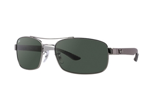 Picture of Ray-Ban RB8316 004 62-18 Green Classic G-15 gunmetal carbon fibre