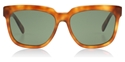 CELINE RADICAL CL41057/S TEN5D LIGHT HAVANA FLAT GREEN LENSES OVERSIZED STATEMENT SUNGLASSES