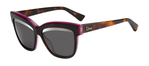 Picture of Dior Graphic havana Plum Pink Grey Silver Arch Dior 3C4 5S