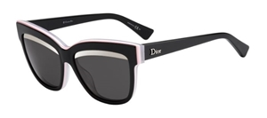 Picture of Dior Graphic Black Pink White Grey Lenses with Silver flash arch mirror Dior 389 5S