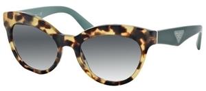 prada 0pr23q 7so1e0 tortoiseshell triangle collection WOMESN FASHION catseye sunglasses