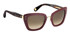 Picture of Marc Jacobs MJ506/S 0NO/J6 Burgundy Havana Gold Rounded Retro CatsEye