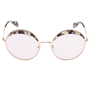 Picture of Miu Miu SMU51Q/S DHE410 LARGE ROUND FRAME MARBLE OVERLAY TOP