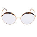 Picture of Miu Miu SMU51Q/S 7SO-3F2 LARGE ROUND FRAME MARBEL OVERLAY TOP