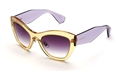 Picture of MIU MIU SMU11P TIM-4W1 AMBER/LILAC BUTTERFLY TRANSLUCENT