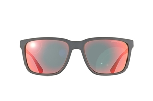 Picture of Emporio Armani EA4047 5211/6Q Matte Grey rubber coated Red Mirror Lens
