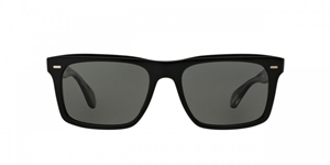 OLIVER PEOPLES BRODSKY BLACK GLOSS OV5322SU 1492K8 BLACK GLOSS FLATTOP RETRO SUNGLASSES