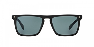Oliver Peoples Bernardo OV5189/S 1031R8 SEMI MATTE BLACK + INDIGO PHOTOCHROMIC flattop sunglasses