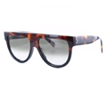 Celine Shadow CL41026s AEAZ3 Dark Havana with Black Flash unisex oversized fashion two tone sunglasses