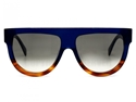 Celine Shadow 41026s QLT Z3 Dark Crystal Blue with Light Tortoiseshell flash unisex large fashion statement sunglasses 2016