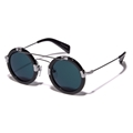 yohji yamamoto YY5006 914 navy monocle round technical double sunglasses
