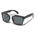 Yohji Yamamoto YY5003 914 Navy Double Bridge reconstructed wayfarer style sunglasses