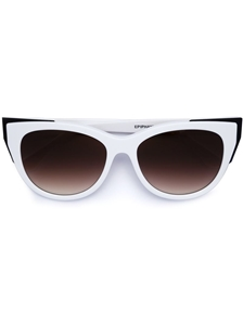 thierry lasry epiphany 000 white gloss, mazzucchelli acetate and matte black titanium,luxury,retro, catseye,streetstyle sunglasses