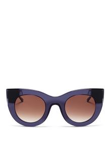 thierry lasry cheeky 2260 purple-blue, mazzucchelli acetate and titanium,luxury 50's cat-eye,streetstyle sunglasses