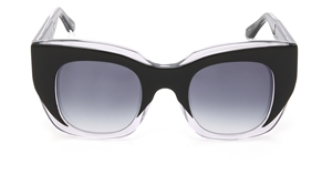 thierry lasry initmacy 21 black crystal clear, mazzucchelli acetate,luxury square,cat-eye,streetstyle sunglasses,accessories