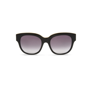 stella mccartney sc0007s-001 large black sqaure sunglasses, classic,timeless,enviromentaly friendly,Notting Hill,London,fashion,streetstyle,unisex,mens,womens,lunettes