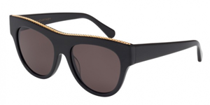 stella mccartney sc0017s-001 large black falabella sunglasses, classic,timeless,enviromentaly friendly,Notting Hill,London,fashion,streetstyle,unisex,mens,womens,lunettes