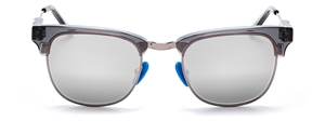 WESTWARD LEANING VANGUARD 5 UA-PA-GSAS-SS-SB CLUBMASTER SHINY SLATE SUPER SILVER INLAY SUPER SILVER LENSES BLUE SILICONE NOSEPADS