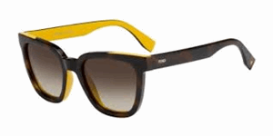 Picture of FENDI COLOUR FLASH FF0121/S MFR/HA Havana/Ochre sunglasses