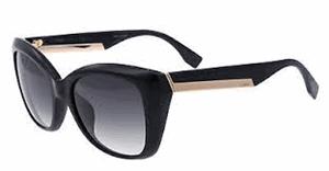 Picture of Fendi FF0019/S D28/9O Shiny Black catseye sunglasses