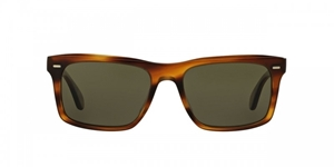 OLIVER PEOPLES BRODSKY SEMI MATTE SANDALWOOD FLATTOP SUNGLASSES