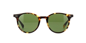 OLIVER PEOPLES,DELRAY SUN,OV5314SU 140752/2N,VINTAGE DTB TORTOISE,CRYSTAL GREEN LENSES,ROUND,50'S, STREETSTYLE, FASHION, RETRO, FASHION, FORWARD, OLSEN TWINS, MARY KATE,ASHLEY , LOS ANGELES, CELEBRITY, MENS,WOMENS