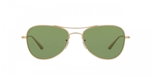 OLIVER PEOPLES X THE ROW,EXECUTIVE SUITE,OV1198ST,MINERAL GLASS,GREEN,GOLD TITANIUM,OLIVER PEOPLES, TITANIUM, AVIATOR, STREETSTYLE, FASHION, RETRO, FASHION, FORWARD, OLSEN TWINS, MARY KATE,ASHLEY , LOS ANGELES, CELEBRITY, MENS,WOMENS