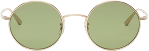 OLIVER PEOPLES X THE ROW,AFTER MIDNIGHT,OV11967ST 525252,MINERAL GLASS,GREEN,BRUSHED GOLD TITANIUM,OLIVER PEOPLES, STREETSTYLE, FASHION, RETRO, FASHION, FORWARD, OLSEN TWINS, MARY KATE,ASHLEY , LOS ANGELES, CELEBRITY,WOMENS,KENDALL JENNER,JENNIFER LAWERENCE,COACHELLA