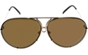 Porsche Design exclusive P8478 gold titanium unique quick release oversize aviators,kardashian,jenner,depp,celebrity,unisex,large,lunettes,sonnenbrille,BROWN,BLUE