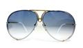 Porsche P8478 gold titanium unique quick release oversize aviators,kardashian,jenner,depp,celebrity,unisex,large,lunettes,sonnenbrille,BROWN,AZURE BLUE