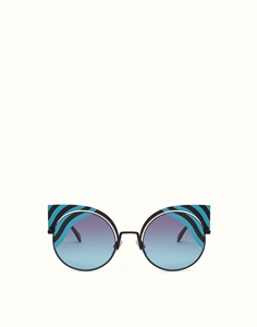 FENDI  HYPNOSHINE FF0215/S 0LBJF BLACK TURQUOISE CATWALK  ADVERTISING FRAME 2016/2017, KENDELL JENNER