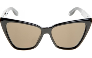 GIVENCHY GV 7032/S D28E4, OVERSIZED,CATSEYE,EYEMASK,SUNGLASSES,SHADES, LUNETTES DE SOLEIL,GAFAS DE SOL, 2016/2017,SHINY BLACK,BEVELLED,GREY LENSES,WOMENS,LUXURY,HIGH FASHION