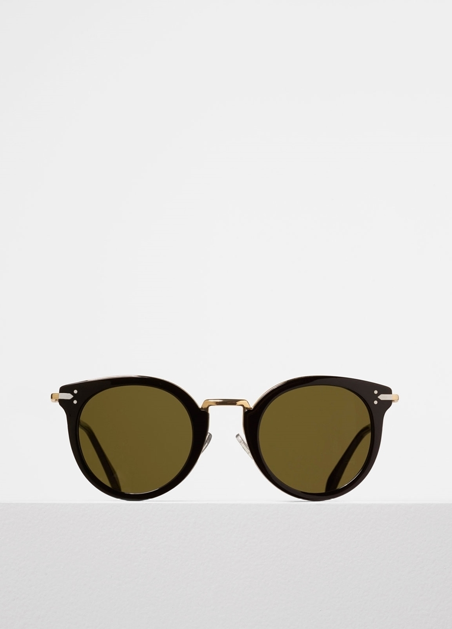 Celine Gold Frame Sunglasses : celine LEA cl41373s anw1e black acetate and gold metal ...