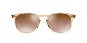 OLIVER PEOPLES FINLEY ESQ. OV5298SU 1471/42 BLUSH FRAME WITH ROSE QUARTZ LENSES RETRO STYLE SUNGLASES