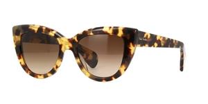 paul smith lovell SPOTTY TORTOISE  catseye sunglasses with amber gradient lenses