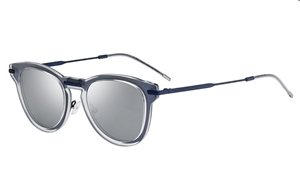 357a970dc5ee0 DIOR HOMME 0198 S APL T4 ROUND KEYHOLE BRIDGE TRANSPARENT ACETATE MOUNTED  ONTO A